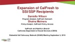 Expansion of CalFresh to SSI/SSP Recipients