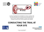CONDUCTING THE TRIAL AT YOUR SITE Trial protocol code: ISRCTN30952488