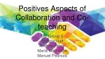 Positives Aspects of Collaboration and Co-teaching