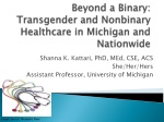 Beyond a Binary: Transgender and Nonbinary Healthcare in Michigan and Nationwide
