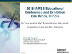 2018 IAMSS Educational Conference and Exhibition Oak Brook, Illinois
