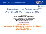 Competency and Performance:  What Should We Measure and How