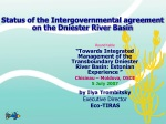 Status of the Intergovernmental agreement on the Dniester River Basin