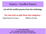 Poetry – Conflict Poems