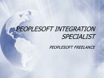 PeopleSoft Freelance Consultant
