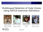 Multilingual Detection of Code Clones Using ANTLR Grammar Definitions