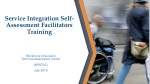 Service Integration Self-Assessment Facilitators Training