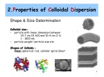 2. P roperties of C olloidal D ispersion