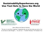 SustainabilitySuperheroes Use Text Sets to Save the World