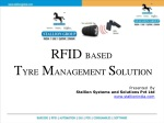 RFID BASED T YRE M ANAGEMENT S OLUTION