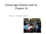 School-Age Children with HL Chapter 14