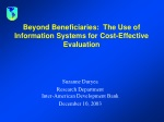 Beyond Beneficiaries: The Use of Information Systems for Cost-Effective Evaluation