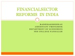 FINANCIALSECTOR REFORMS IN INDIA