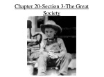 Chapter 20-Section 3-The Great Society