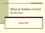 Ethan & Sanborn Central In-Service