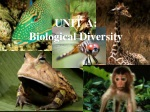 UNIT A: Biological Diversity