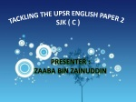 SECTION A ENGLISH UPSR PAPER 2 SJK(C)