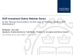 OUP Investment Claims Webinar Series