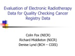 Evaluation of Electronic Radiotherapy Data for Quality Checking Cancer Registry Data