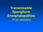 Transmissible Spongiform Encephalopathies (Prion disorders)