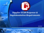 Supplier SCAR Response & Implementation Requirements
