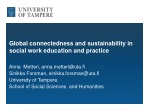 Global connectedness and sustainability in social work education and practice