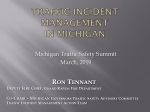 Traffic Incident Management in Michigan