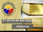FY 2014 PLAN AND BUDGET