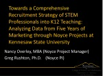 Nancy Overley, MBA (Noyce Project Manager) Greg Rushton, Ph.D.	(Noyce PI)