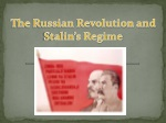 The Russian Revolution and Stalin's Regime