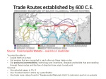 Trade Routes established by 600 C.E.