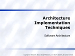 Architecture Implementation Techniques