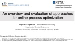 An overview and evaluation of approaches for online process  optimization