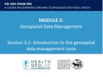 Session 3.1 : Introduction to the geospatial data management cycle