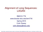 Alignment of Long Sequences: LAGAN