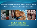 Governance and Management of High Arsenic Ground Water based Drinking Water Supply in India