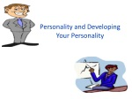Personality and Developing Your Personality