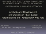 Analysis and Development of Functions in REST Logic : Application to the «DataView» Web App