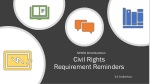 Civil Rights Requirement Reminders