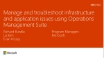 Manage and troubleshoot infrastructure and application issues using Operations Management Suite