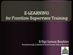 E-LEARNING for Frontline Supervisor Training
