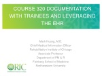 Course 320 Documentation with trainees and leveraging the EHR