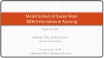 McGill School of Social Work BSW Information & Advising