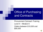 Office of Purchasing and Contracts
