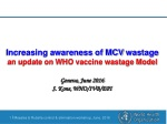 Increasing awareness of MCV wastage an update on WHO vaccine wastage Model