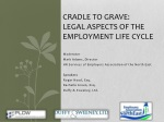 Cradle to Grave: Legal Aspects of the Employment Life Cycle