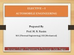 ELECTIVE – I AUTOMOBILE ENGINEERING