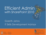 Efficient Admin with SharePoint 2010