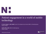Patient engagement in a world of mobile technology