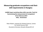 Measuring graduate occupations and their skill requirements in Hungary